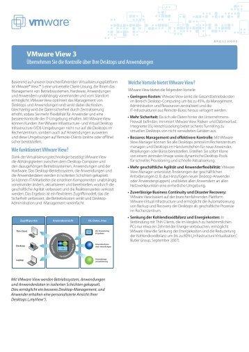 VMware View Broschuere DE