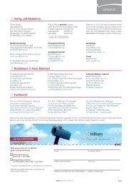 Interna & Impressum - Trillium GmbH