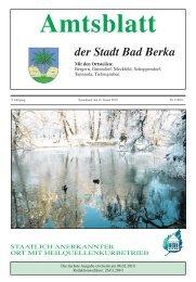 Ausgabe 1/2010 - Kurstadt Bad Berka