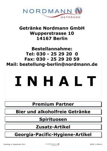 Bier und Alkoholfreie Getränke - Nordmann Getränke