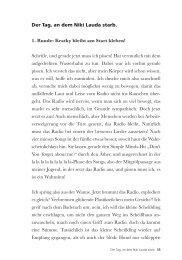 Der Tag, an dem Niki Lauda starb. 1. Runde: Kratky ... - Edition Keiper