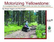 Motorizing Yellowstone: - Sierra Club