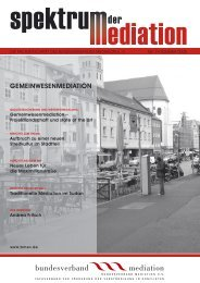 GEMEINWESENMEDIATION - Bundesverband Mediation eV