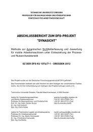 """Abschlussbericht Projekt: """"Verminderung der     - BLE"""