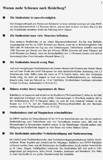 Warum mehr Schienen nach Heidelberg? - VCD