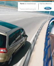 Ford Auto-Versicherung* Feel The Difference