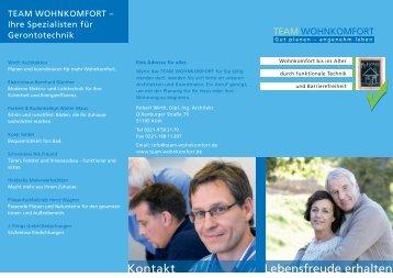 Aktueller Flyer - Team Wohnkomfort