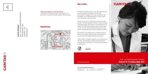 Deutsch für Fremdsprachige (Obwalden) - CARITAS - Schweiz