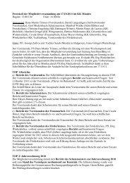 Protokoll der Mitgliederversammlung - Gustav-Adolf-Werk Westfalen