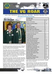 Download the November December V6 Roar Newsletter - Lions ...