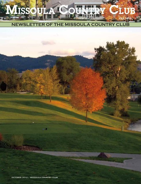 October 2012 Newsletter Missoula Country Club