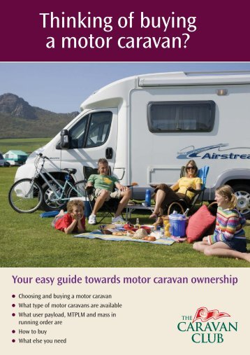 Thinking of buying a motor caravan? - The Caravan Club