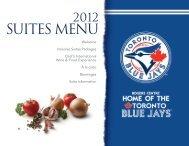 Suites Menu - Toronto Blue Jays