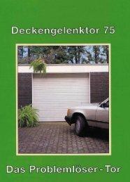 Deckengelenktor - Hartmann Markisen