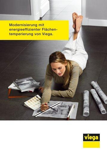 """In unserer Broschüre """"Modernisierung - Fußbodenheizung von Viega"""