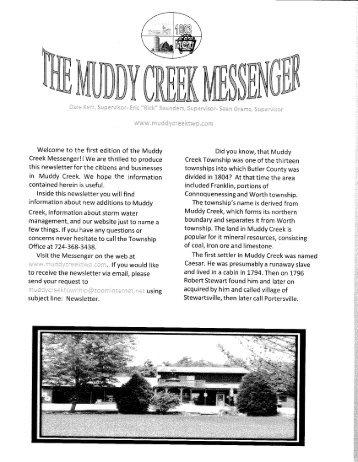 Muddy Creek Messenger - Muddy Creek Township