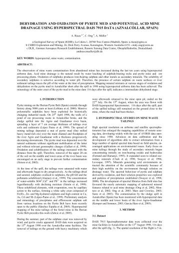 dehydration and oxidation of pyrite mud and potential