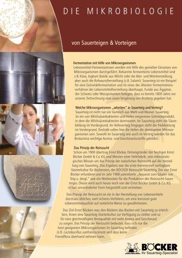 DIE MIKROBIOLOGIE - BÖCKER GmbH & Co. KG