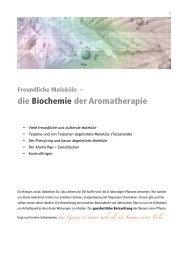 die Biochemie der Aromatherapie - Eliane Zimmermann