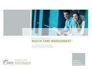 Health Care Management – Master of Arts  - Hartmannbund