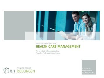 Health Care Management – Master of Arts  - Hartmannbund