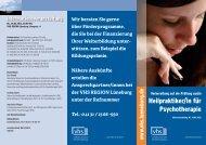 Heilpraktiker/in für Psychotherapie - bei der vhs Lüneburg