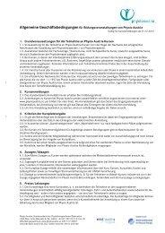 Allgemeine Geschäftsbedingungen 2013 - Physio Austria