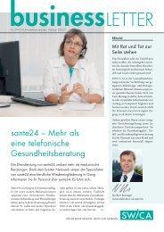 sante24 – Mehr als eine telefonische Gesundheitsberatung - SWICA