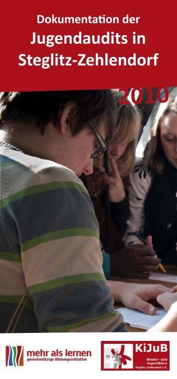 Dokumentation der Jugendaudits in Steglitz ... - mehr als lernen