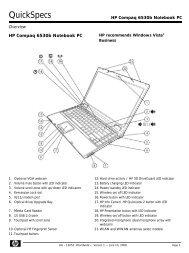 HP Compaq 6530b - EMEA Quick Specs - BUSINESS IT