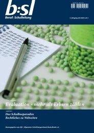 Evaluation - mehr als Erbsen zählen - b:sl-Beruf Schulleitung