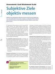 Assessment: Goal Attainment Scale - Stefan Schädler