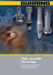 PKD- und CBN- Werkzeuge - Gühring