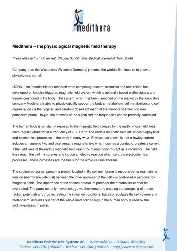 Medithera – the physiological magnetic field therapy - Sms ...