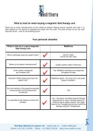 What to look for when buying a magnetic field therapy unit. Your ...