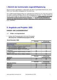Sachstandsbericht 2005 - Kommunale Jugendarbeit Neckarsulm