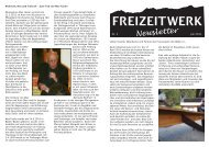 Freizeitwerk Newsletter Nr. 2 Juli 2011(PDF-Download