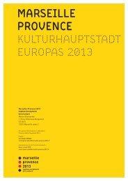 marseille provence kulturhauptstadt europas 2013 - Maison de la ...