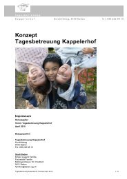 Konzept Tagesbetreuung Kappelerhof - Baden