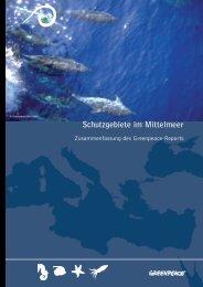 Schutzgebiete im Mittelmeer - deutsche ... - Greenpeace