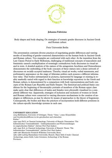 Dissertation abstract in cv
