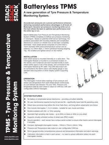 Batteryless TPMS - Horag