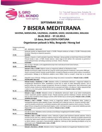 7 Bisera Mediterana septembar 2012.pdf - Il Giro del Mondo