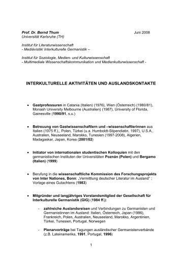 Prof. Dr. Bernd Zimmermann: Schriften/papers - Fakultät für ...