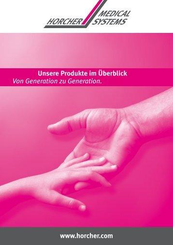 Übersichtsprospekt Horcher Medical Systems - Horcher GmbH ...