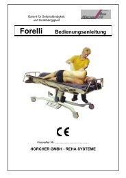 Forelli Bedienungsanleitung - Horcher GmbH - Reha Systeme