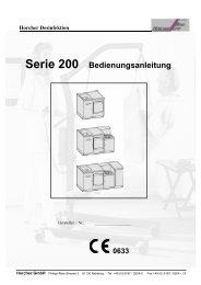 Bedienungsanleitung Steckbecken Spülsysteme Serie S200