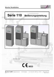 Bedienungsanleitung Steckbecken Spülsysteme Serie S110
