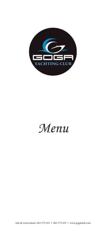 download menu - Goga Yachting Club