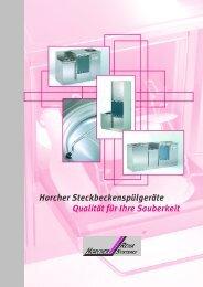 Prospekt Steckbecken Spülsysteme - Horcher GmbH - Reha Systeme